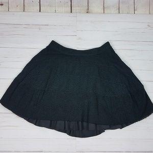 Marc Jacobs mini a-line skirt| net pattern | Black